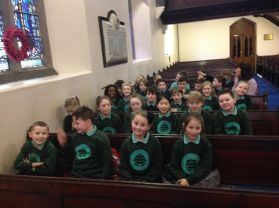 P5 begin church visits with St Augustine's church