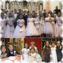 Primary 4 children receive the Sacrament of First Holy Communion