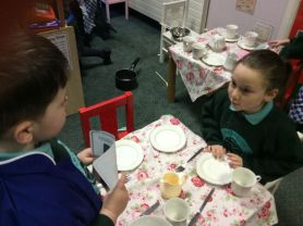 At the Café in Primary 1