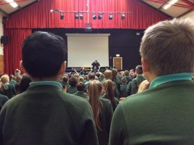 Oakgrove welcomes Paul Crawford for assembly