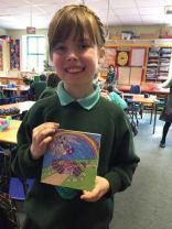 Leia wins Thorntons Colouring Competition!
