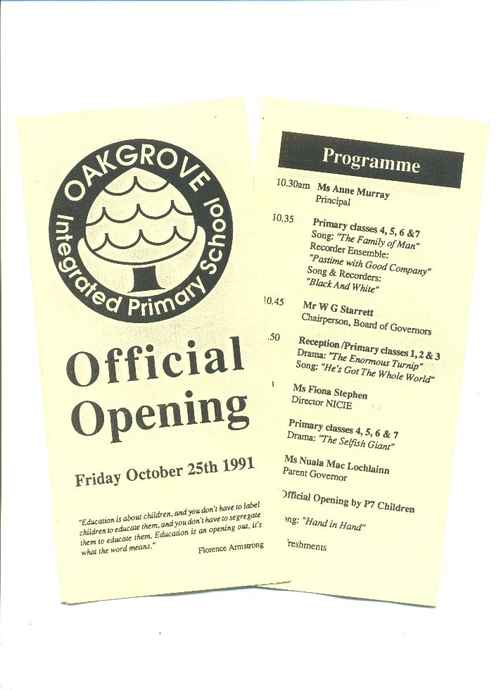 Official Opening Programme