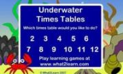 Under Water Times Tables