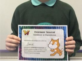 Daniel won a certificate for programming