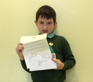 Lewis receives a letter from JK Rowling