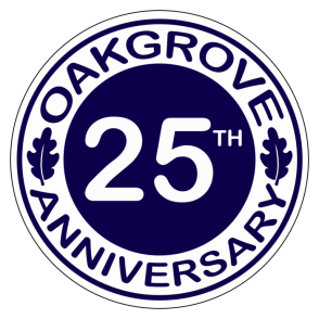 Click on the badge to find out more about 25 years at Oakgrove.